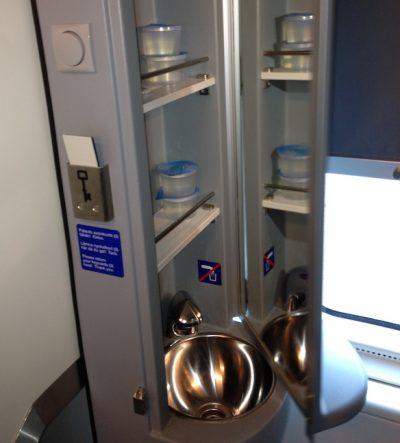 WC in Finnish train cabin