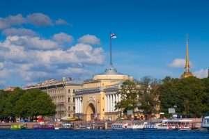 The Admiralty building in St. Petersburg