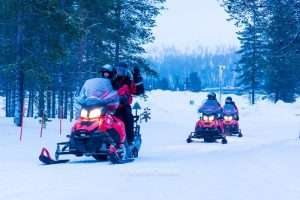 Snowmobile ride in Lapland