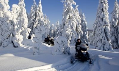 Snowmobile tours in Finland