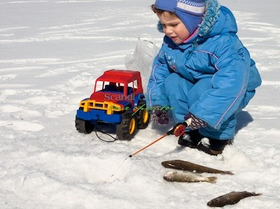 Fishing in Lapland