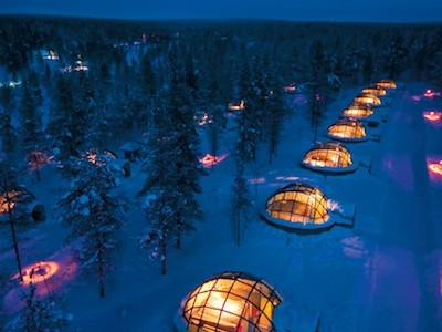 Glass Igloo in Saariselka