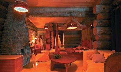 Log cabin - inside view