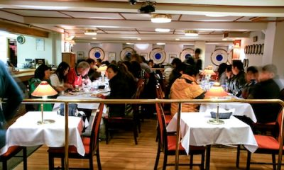 Cosy lunch onboard the cruiser