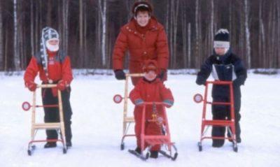 Finnish holidays | Kick sledge experience at Iso-Syote