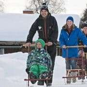 Holidays Finland | Kick sledge safari