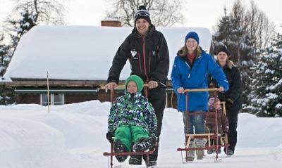 Holidays Finland | Kick sledge safari
