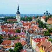 Red Rooftops of Tallinn Old City