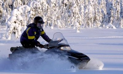 Snowmobiles to a reindeer farm