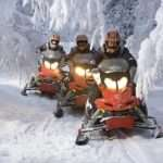 Experience snowmobiling in Rovaniemi Lapland