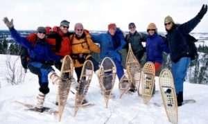 Snowshoe hiking trip