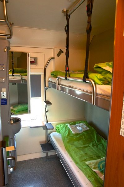 Comfortable overnight train Rovaniemi