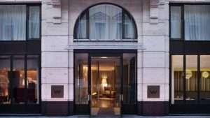 Main entrance in W hotel St. Petersburg