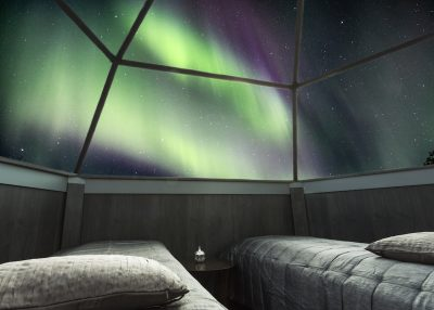 Accommodation in Glass igloos