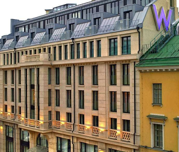 W hotel St. Petersburg outside view