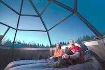 Glass Igloo in Lapland, Finland