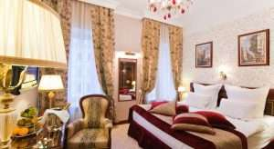 Hotel room of the Golden Triangle boutique hotel St. Petersburg