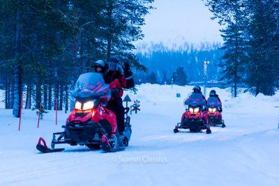 Explore snowmobile safari in Kemi